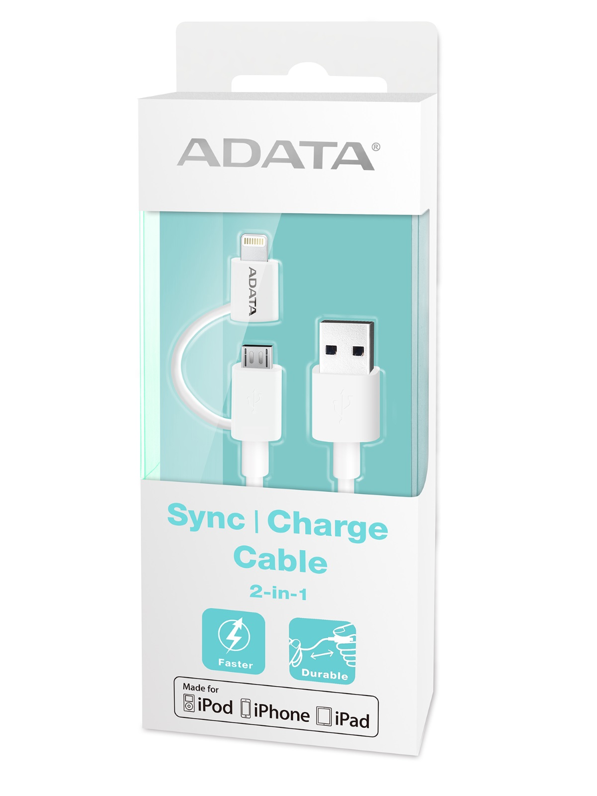 ADATA Apple Lightning & Micro-USB 2-in-1 Sync & Charge Cable