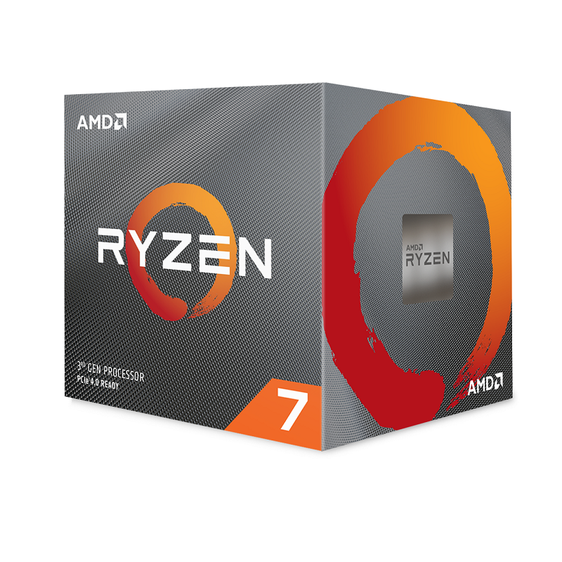 AMD Ryzen 7 3700X 8-Core AM4 3.6GHz, Wraith Prism, No VGA