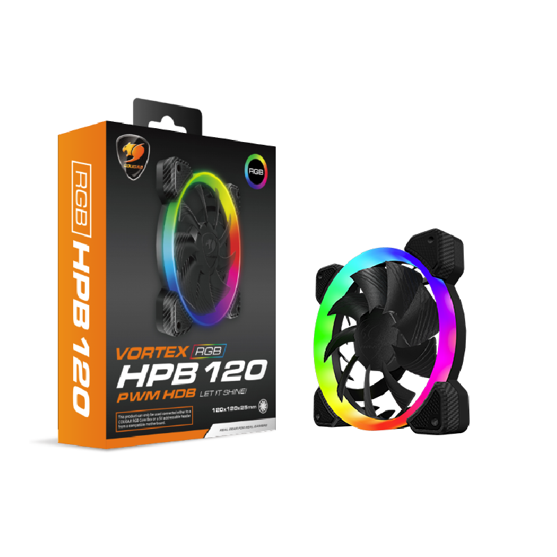 Cougar Vortex CF-V12HB-RGB 120mm RGB PWM case fan