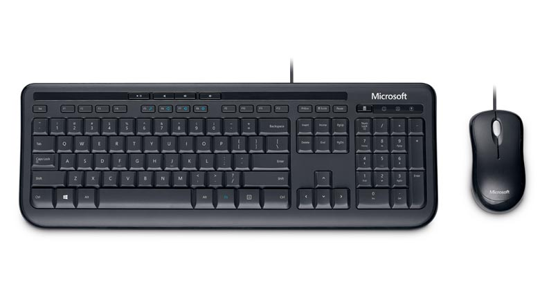 Microsoft Wired Desktop 600 Keyboard&Mouse White USB-Retail