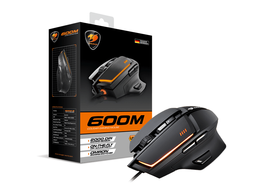 Cougar 600M RGB Gaming Mouse 8200dpi (Black)
