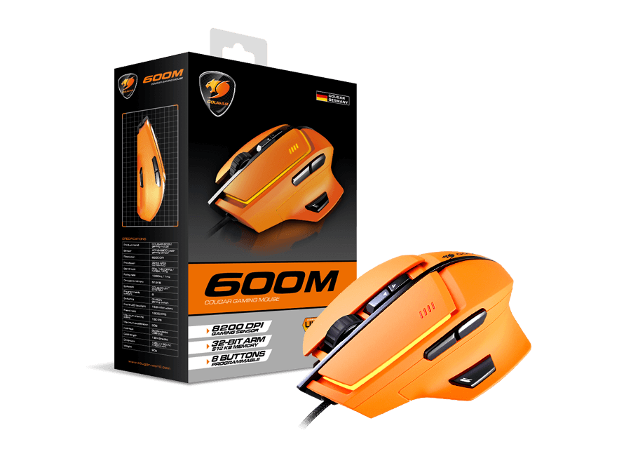 Cougar 600M RGB Gaming Mouse 8200dpi (Orange)