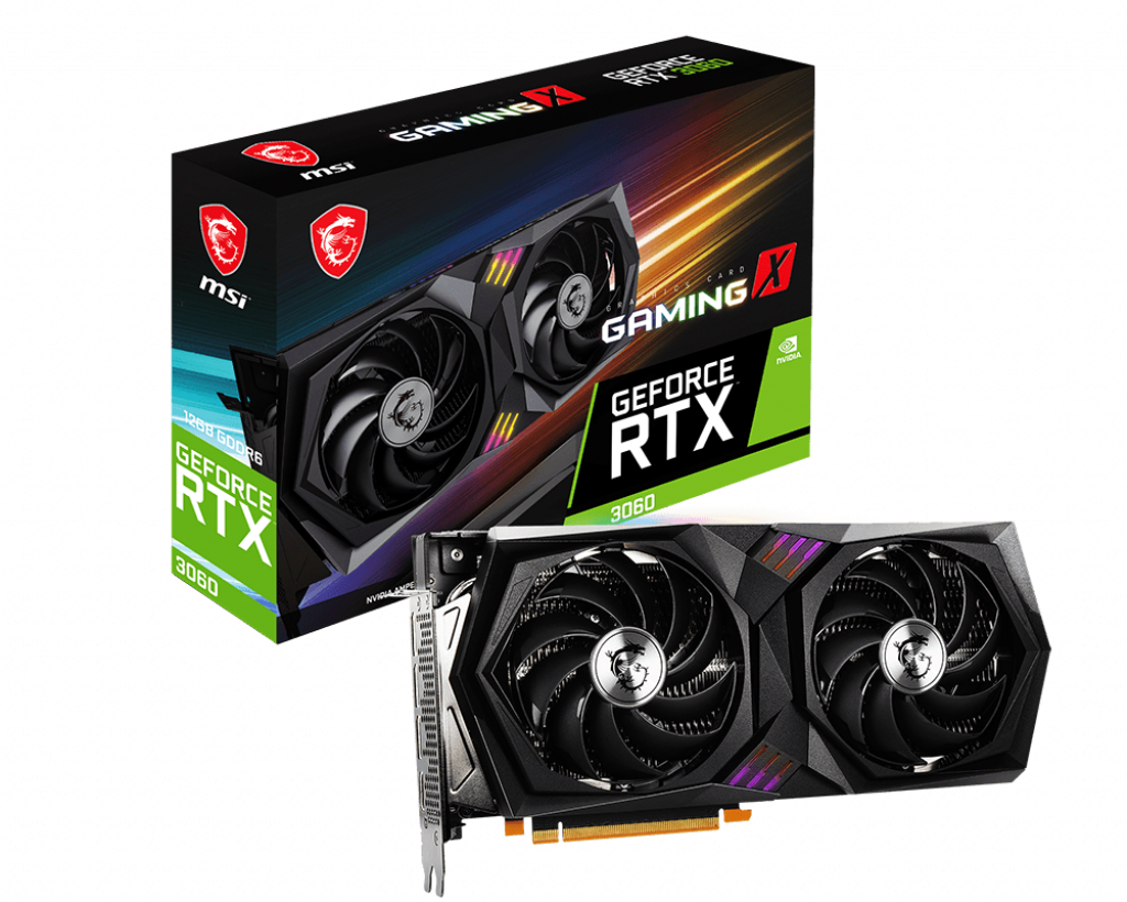 MSI RTX3060 Gaming X 12GB DPx3/HDMIx1 (1837MHz)