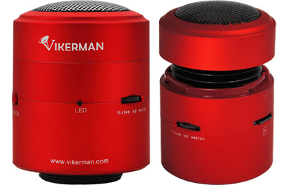 Vikerman Resonance Speaker VK-C01, 10W, Micro SD (Red)