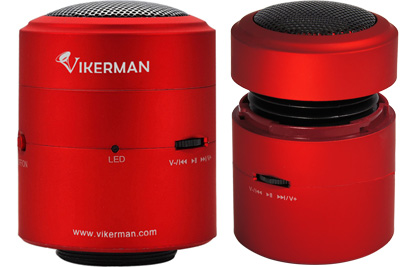 Vikerman Resonance Speaker VK-C03, 10W, Bluetooth (Red)