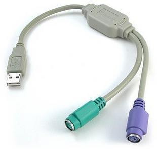 USB to 2 x PS/2 Cable Adaptor
